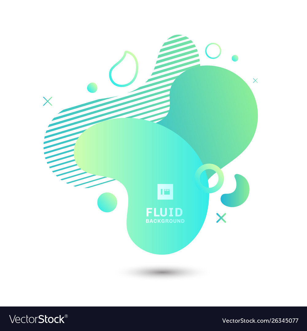 Abstract green fluid graphic shape elements