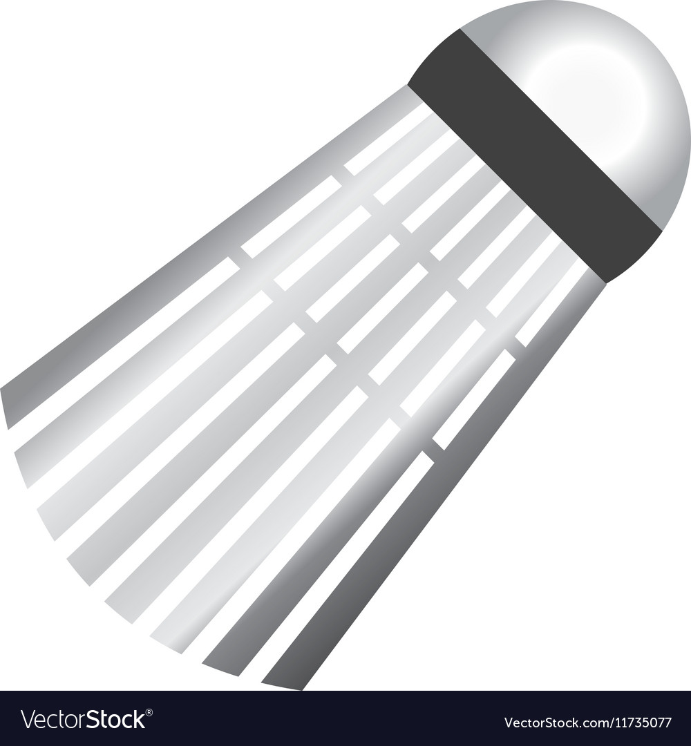 Badminton birdie ball vector