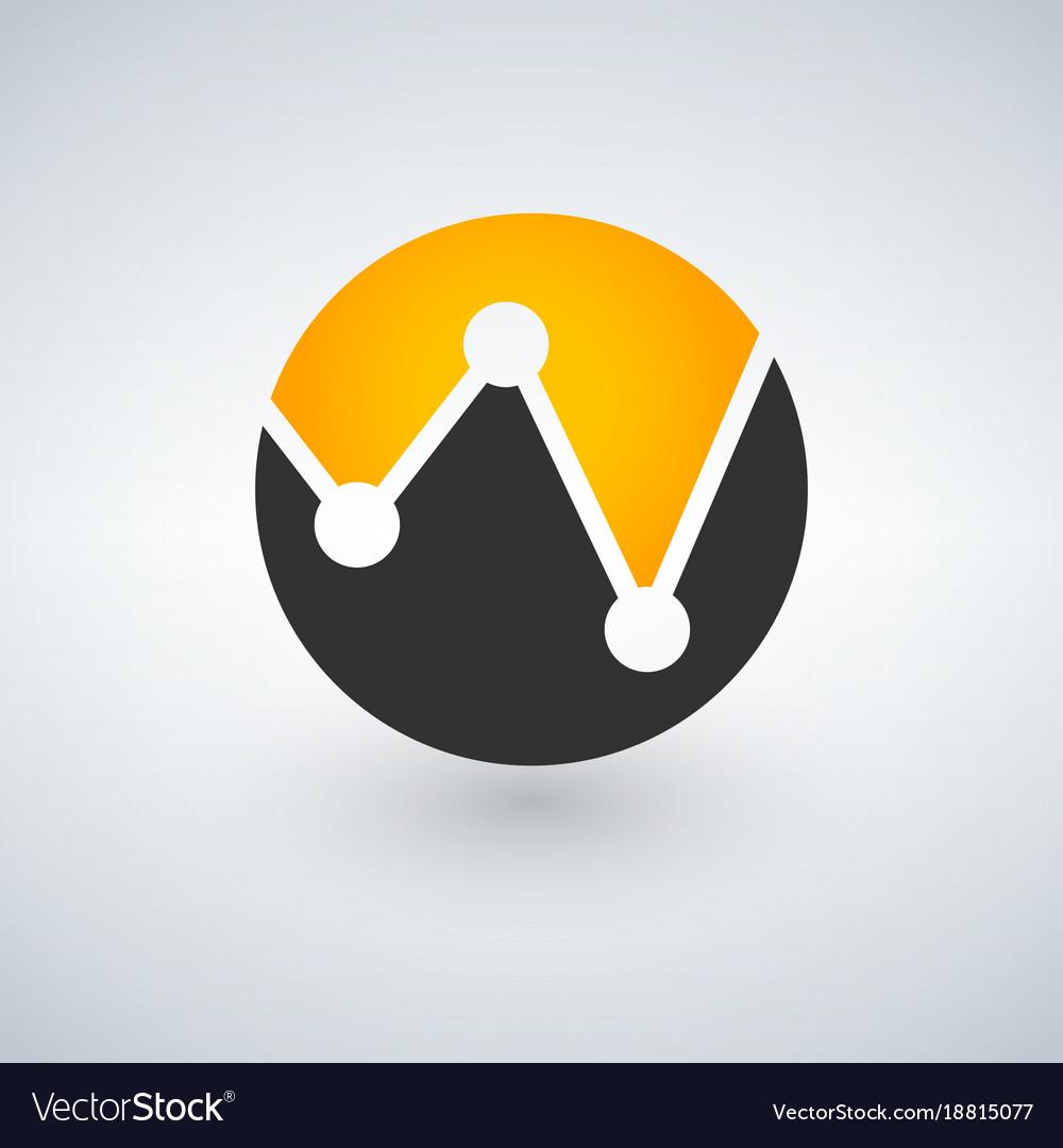Bank or finance organization letter w logo