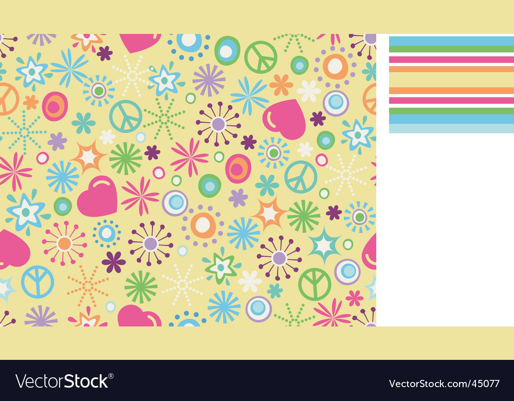 Cute floral background vector image