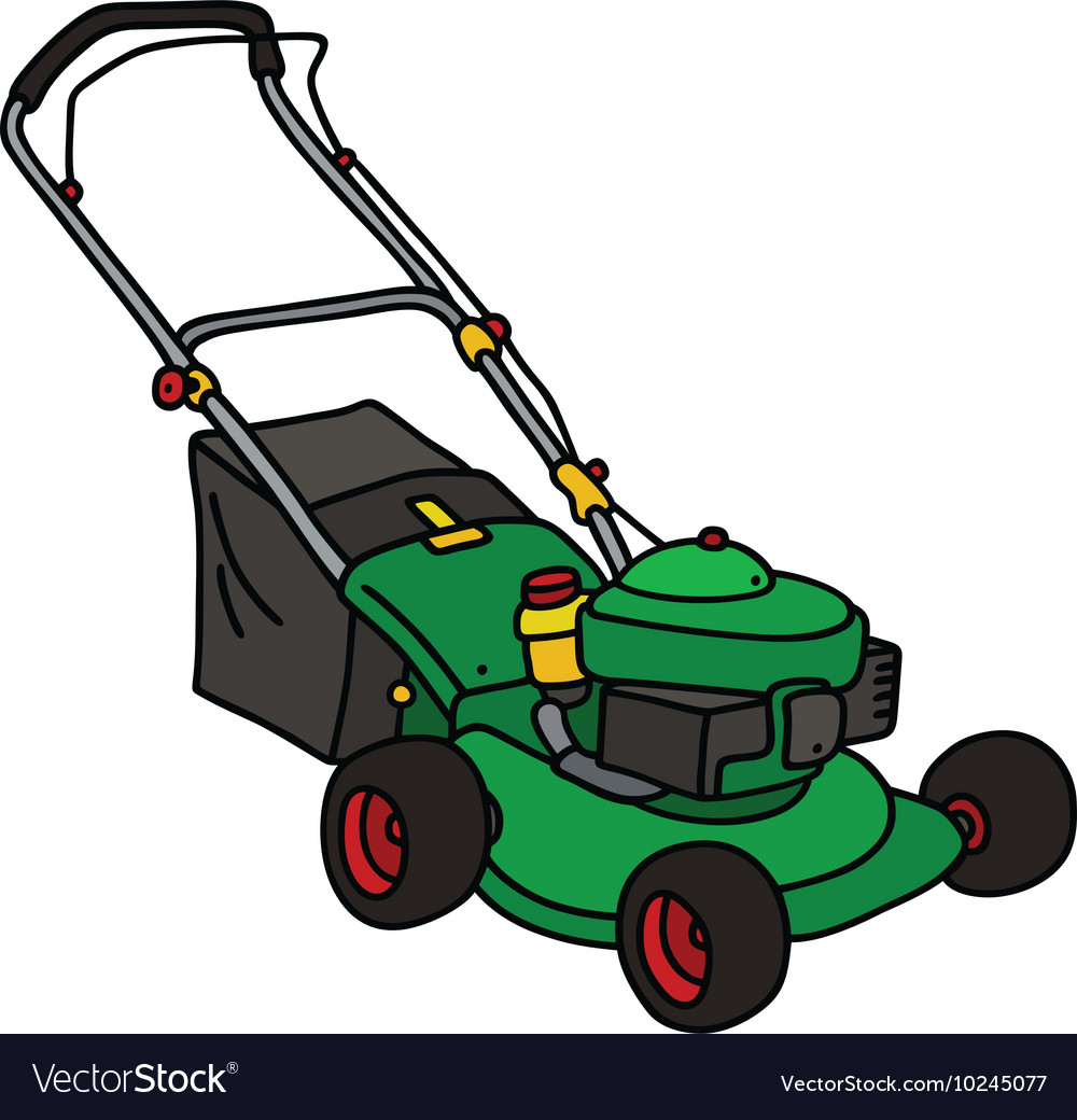 Green Garden Lawn Mower Royalty Free Vector Image