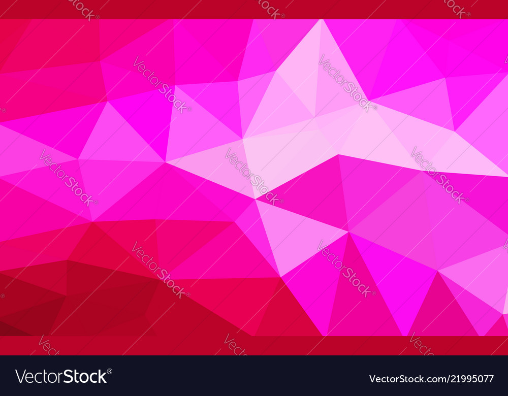 Light red polygonal which consist of triangles
