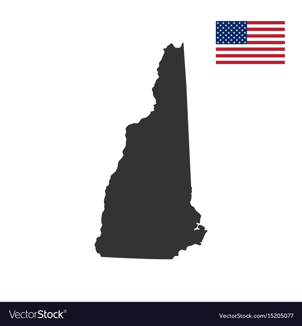 New Hampshire On Map Of Usa.Map Of The Us State Of New Hampshire Royalty Free Vector