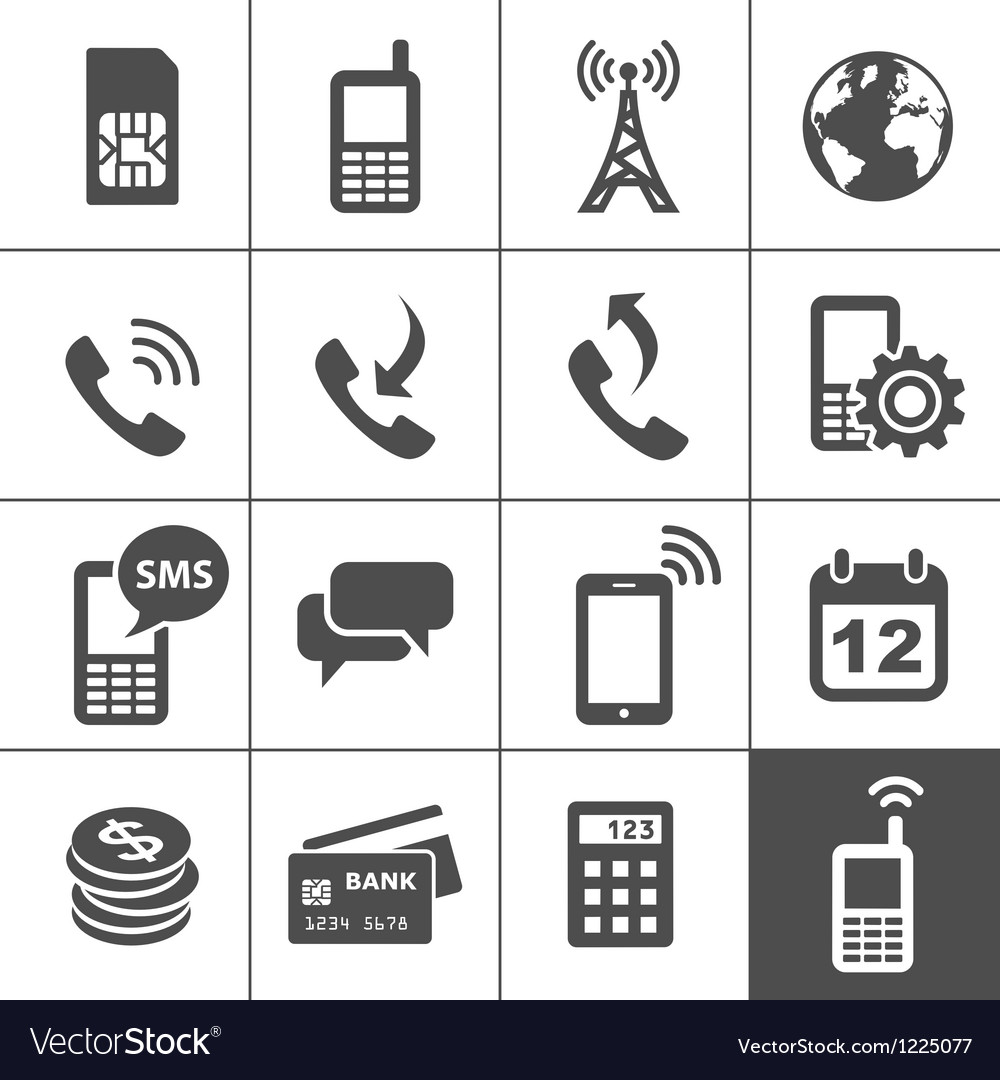 Mobile account management icons vector image