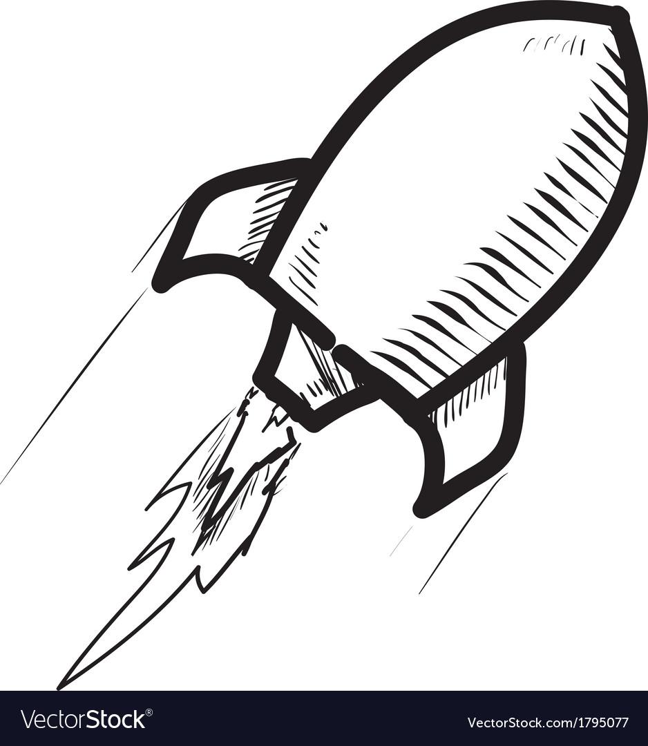 rocket ship cartoon icon royalty free vector image rh vectorstock com cartoon rocket ship png cartoon rocket ship taking off