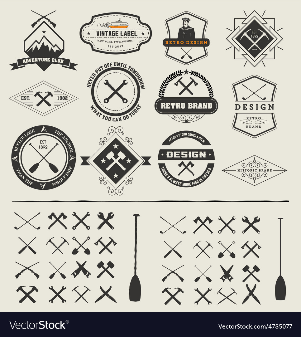 Set logos and icons