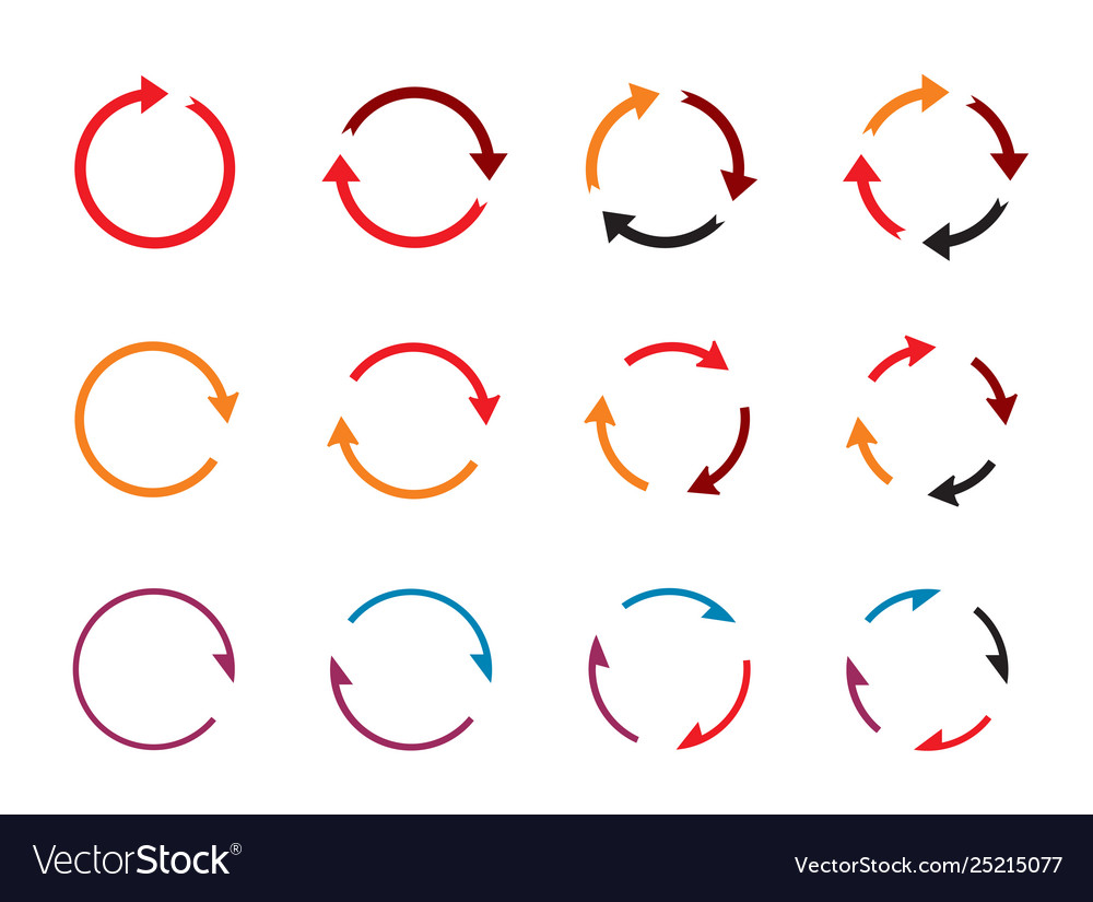 Sets color circle arrows icons