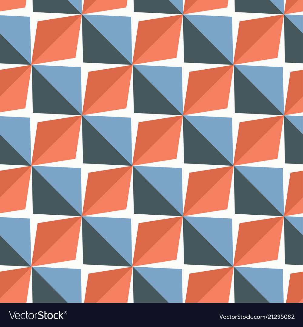 Papper stickers cut-out tile blue and red Vector Image