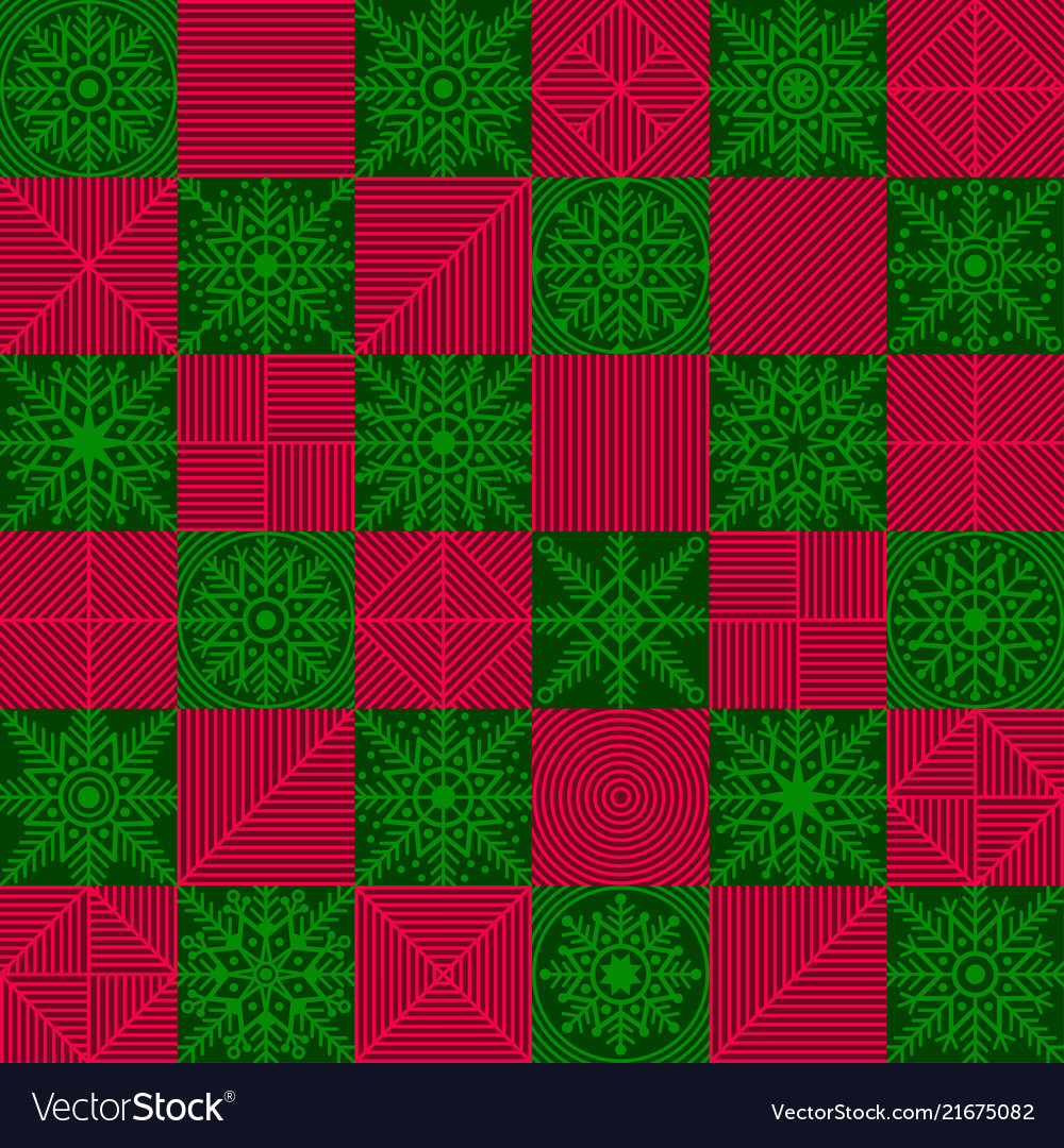 Snowflakes placed in a chess checkerboard order