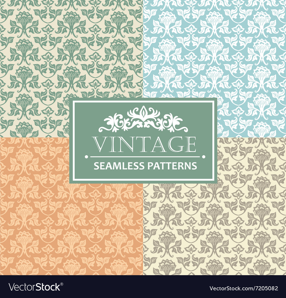 Vintage seamless background antique victorian