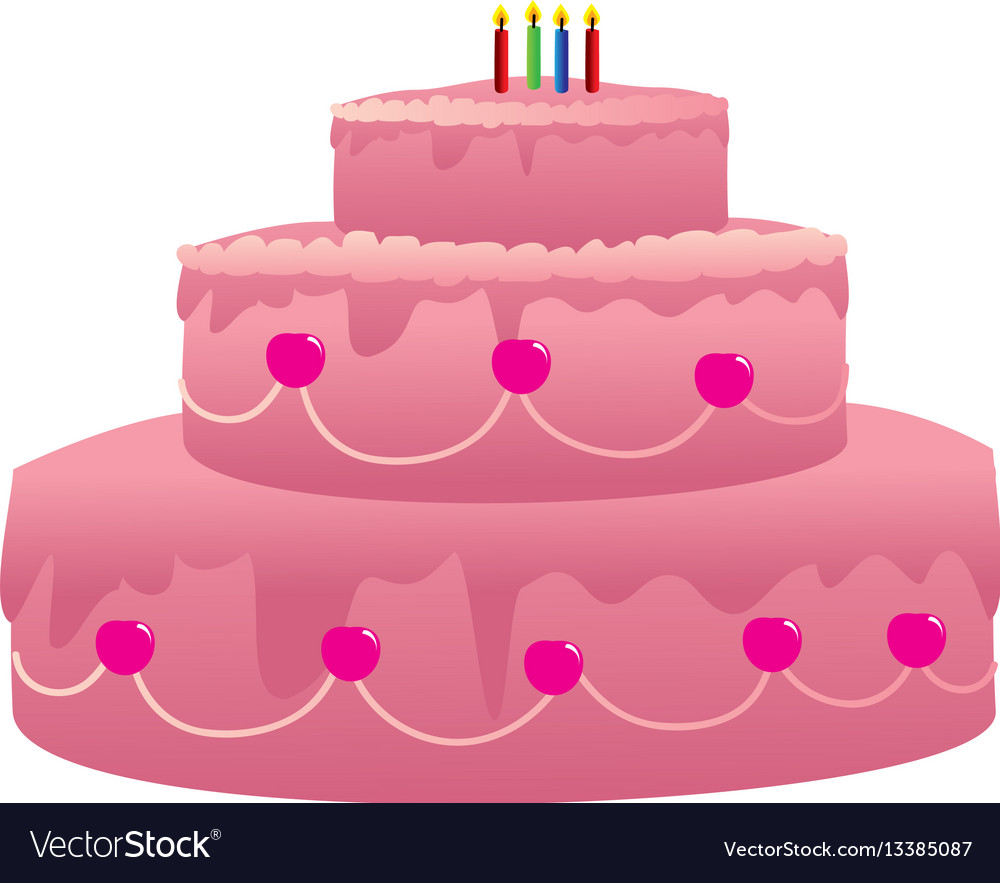 Cool Color Silhouette With Birthday Cake And Candles Vector Image Personalised Birthday Cards Cominlily Jamesorg