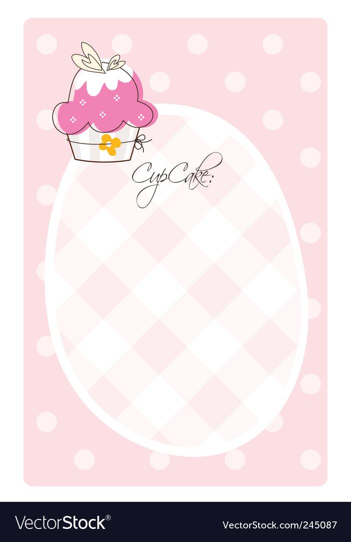 Cupcake Template | Cupcake Template Royalty Free Vector Image Vectorstock