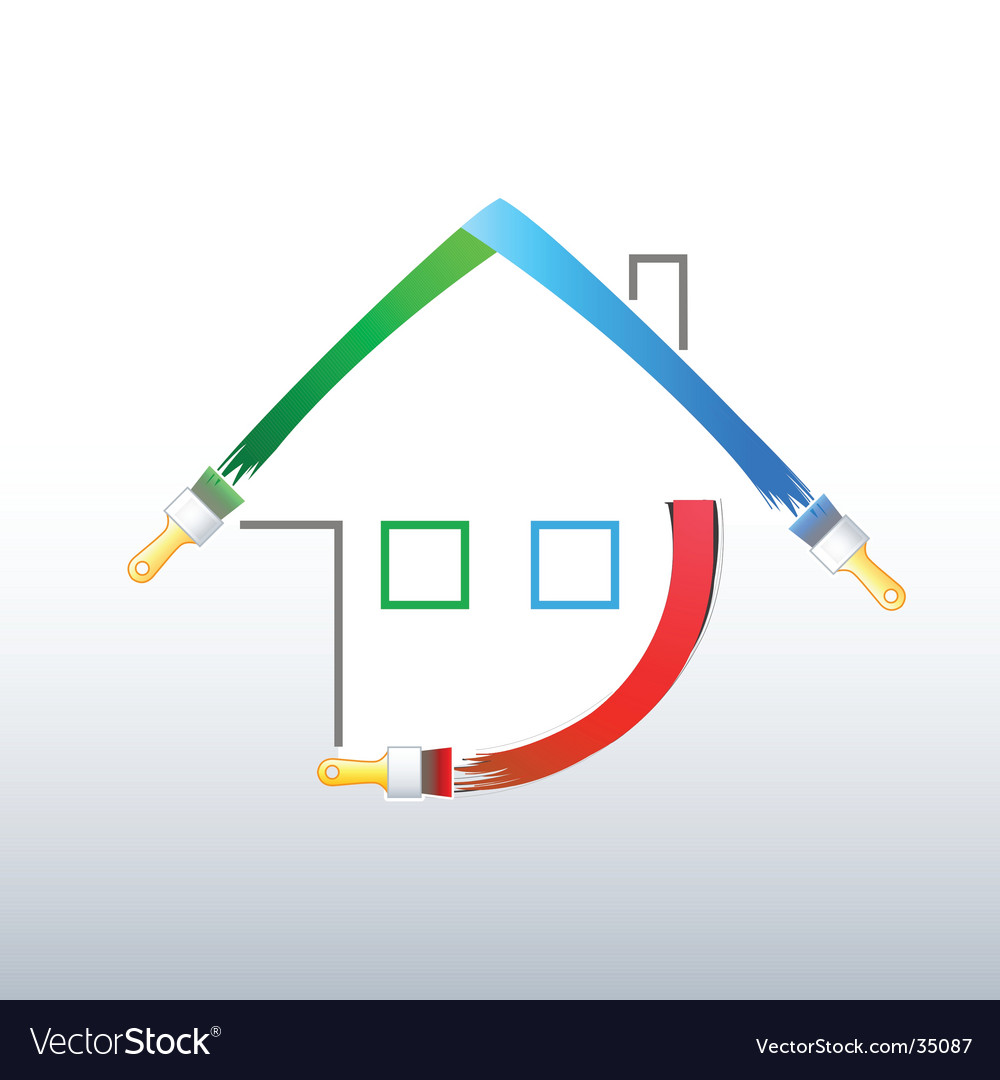 Home decoration symbol vector image