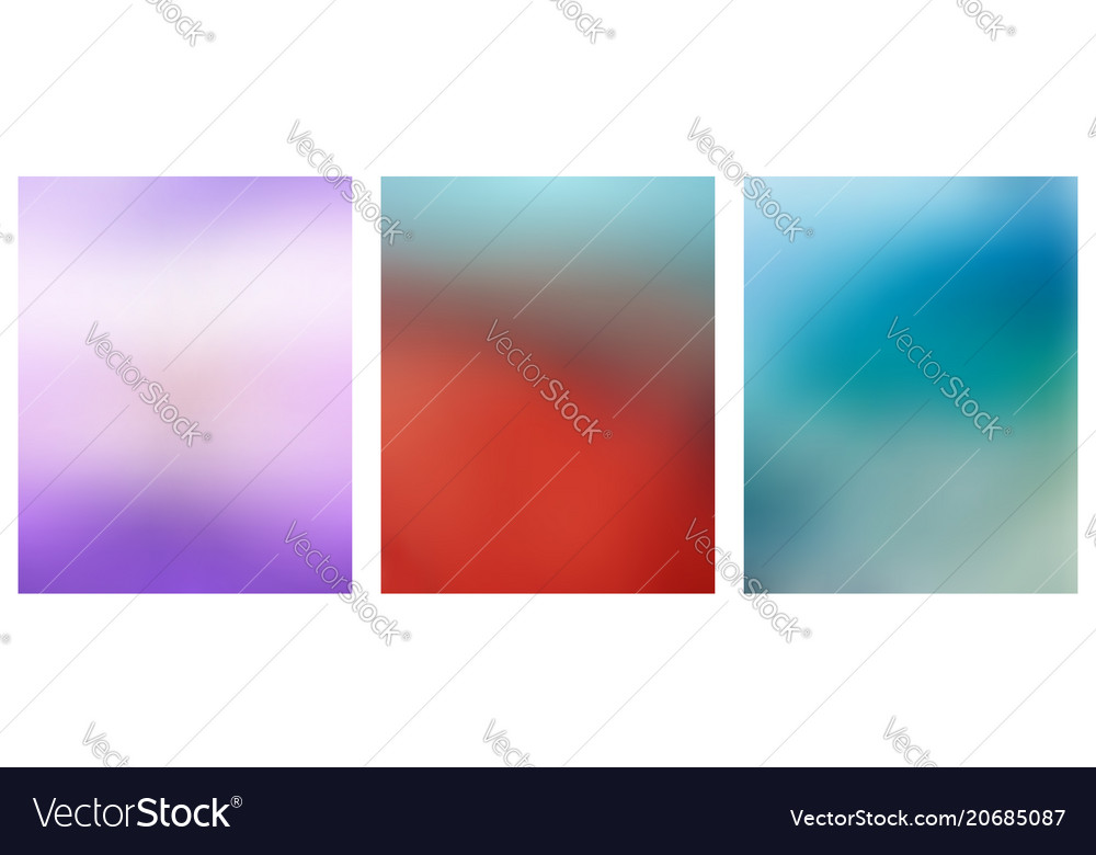 Set of multicolored blurred backgrounds