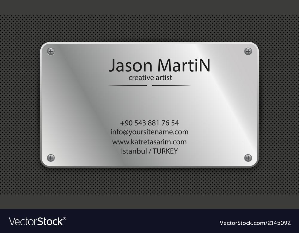 Grunge metallic business card