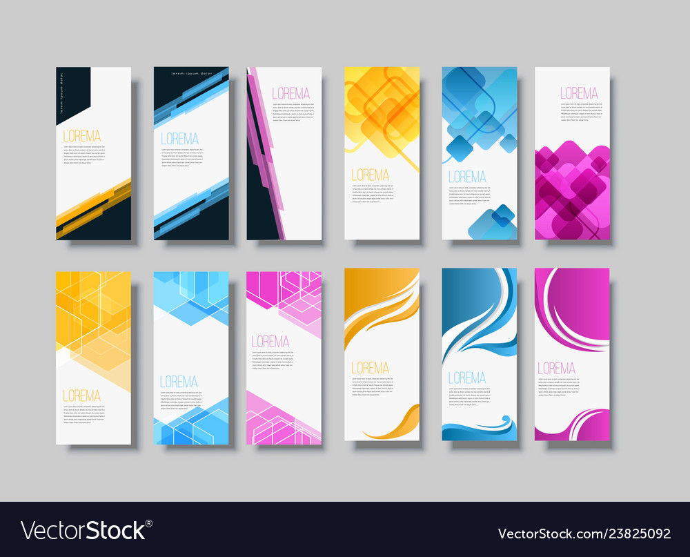 Set of banner background template