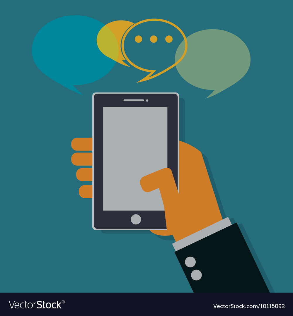Smart phone vector image