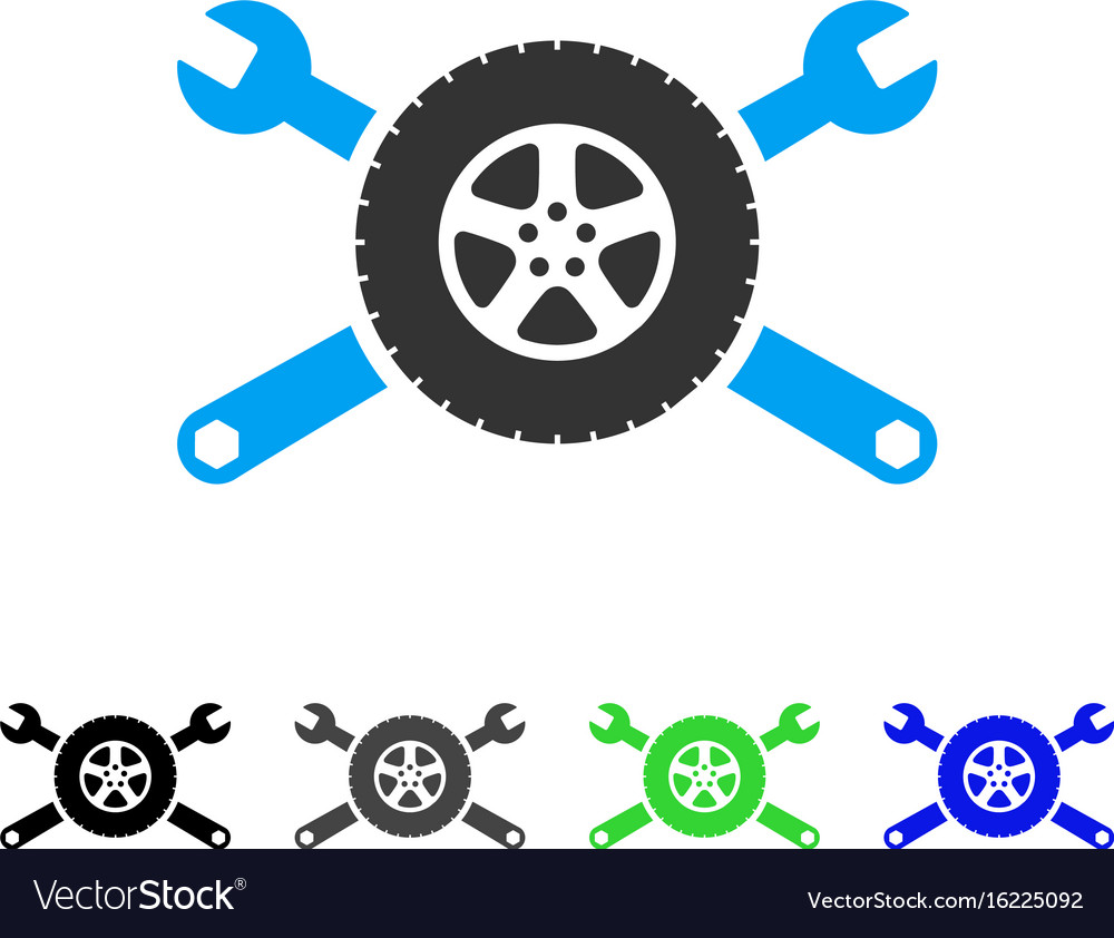 Tire service wrenches flat icon