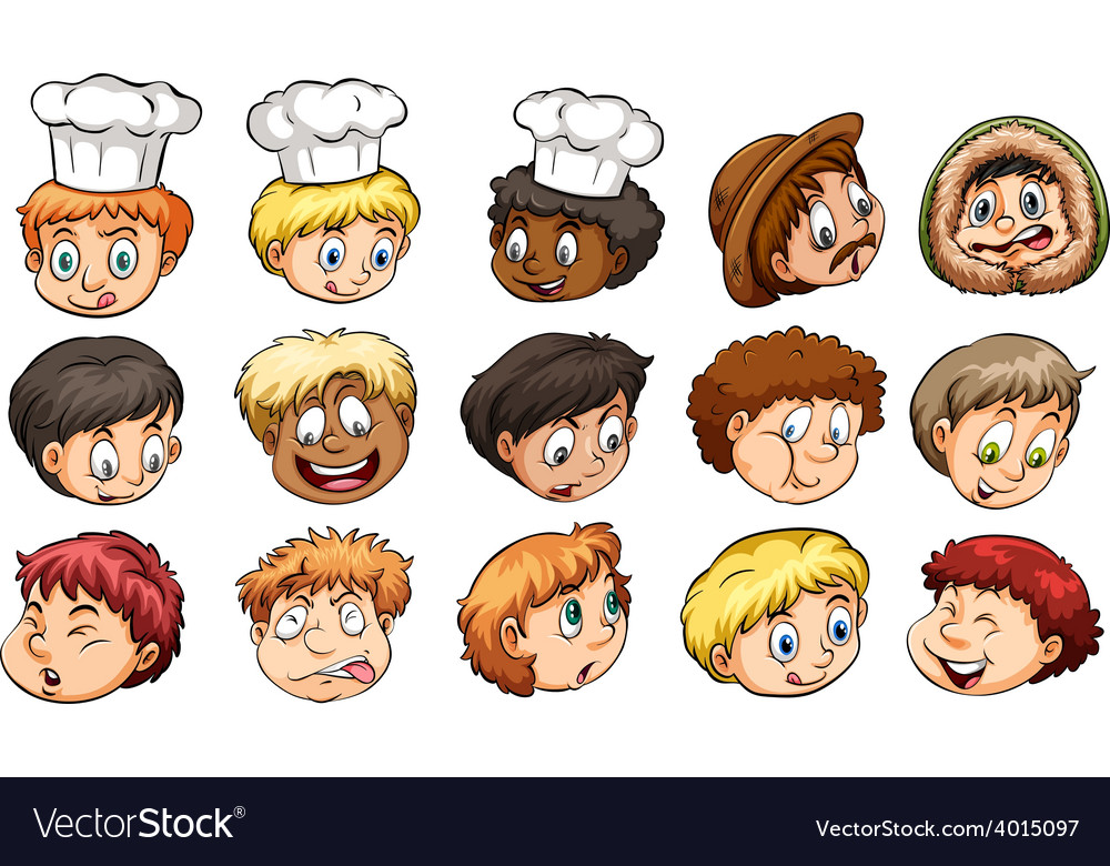 A group of faces vector image