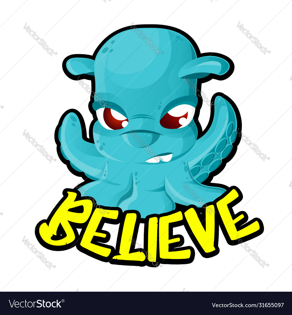 Alien ufo space invader cartoon character like a