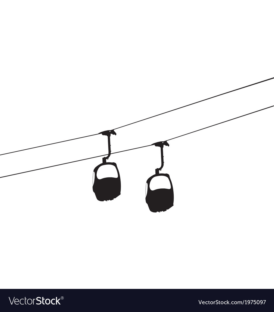 Cable car vector image