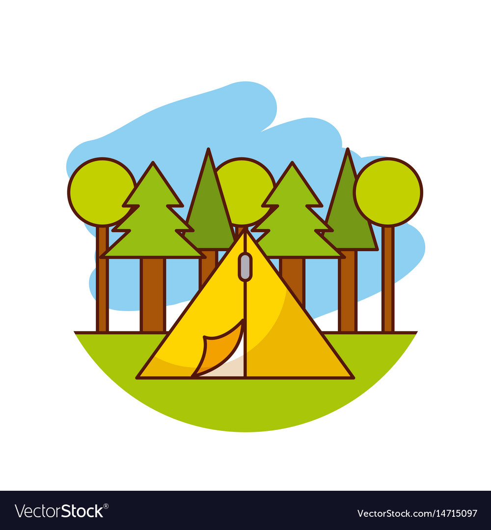 Camping related icons image