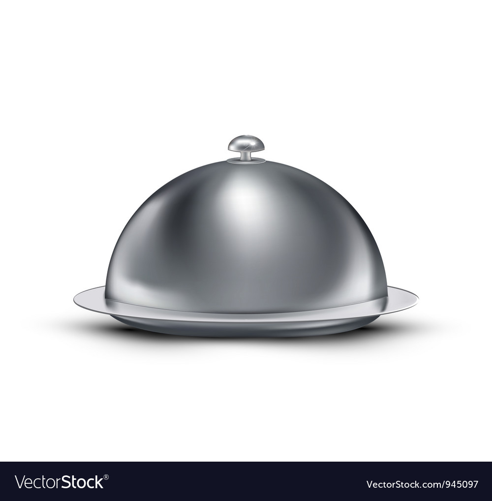 Chrome Catering Tray vector image