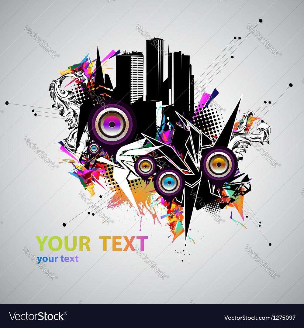 Music urban poster