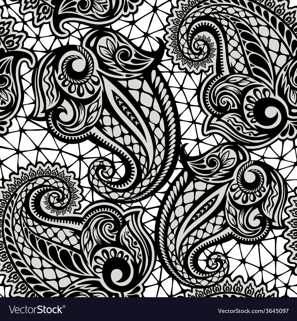Abstract seamless lace pattern with flowers 323224 Vector Art at Vecteezy   1080x1000