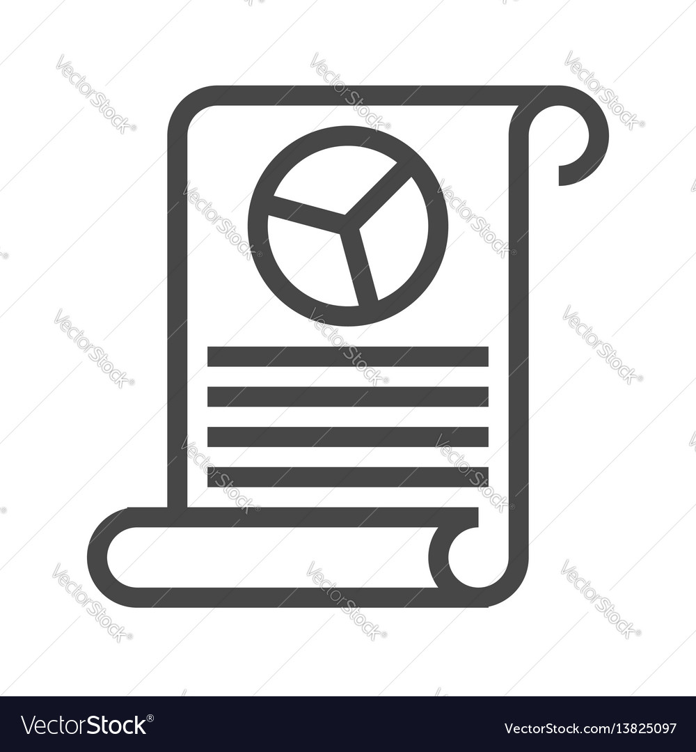 Report thin line icon vector image