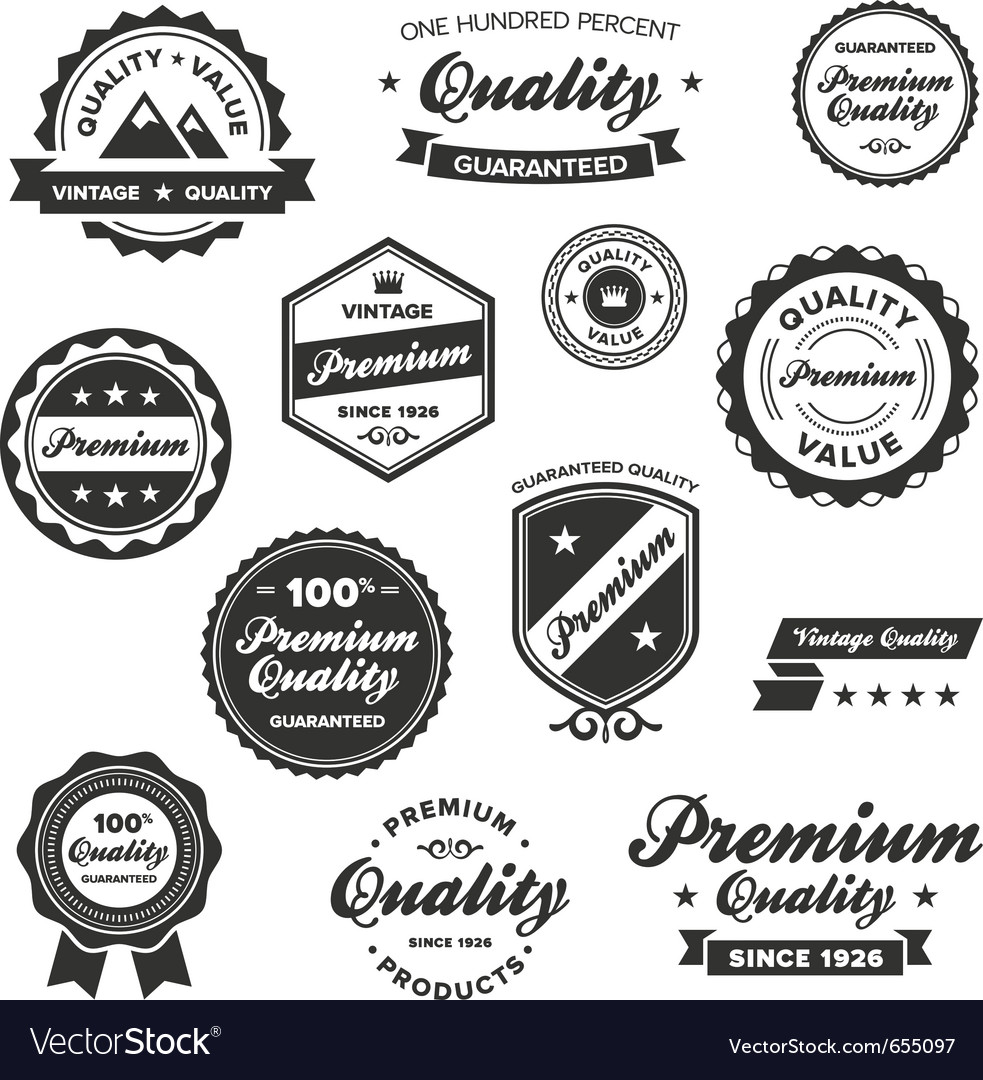 vintage quality labels royalty free vector image rh vectorstock com vector labs casein solution vector labs