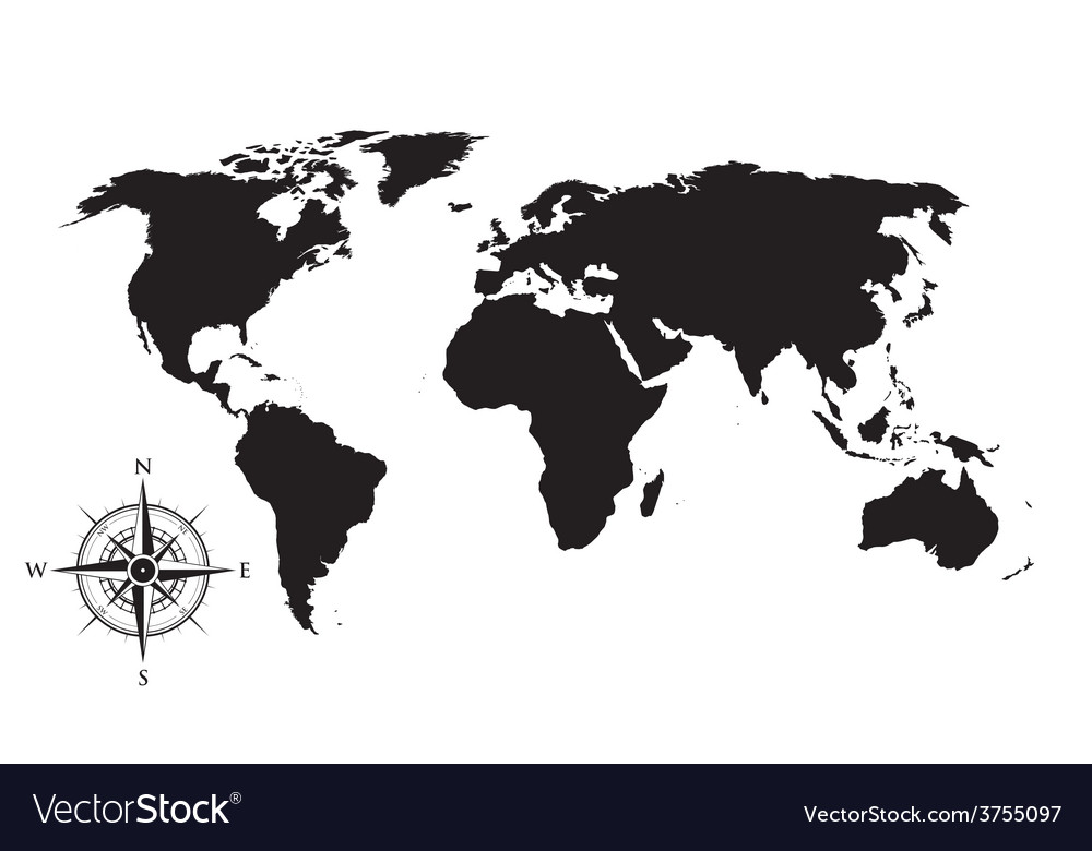 World Map Compass | autobedrijfmaatje