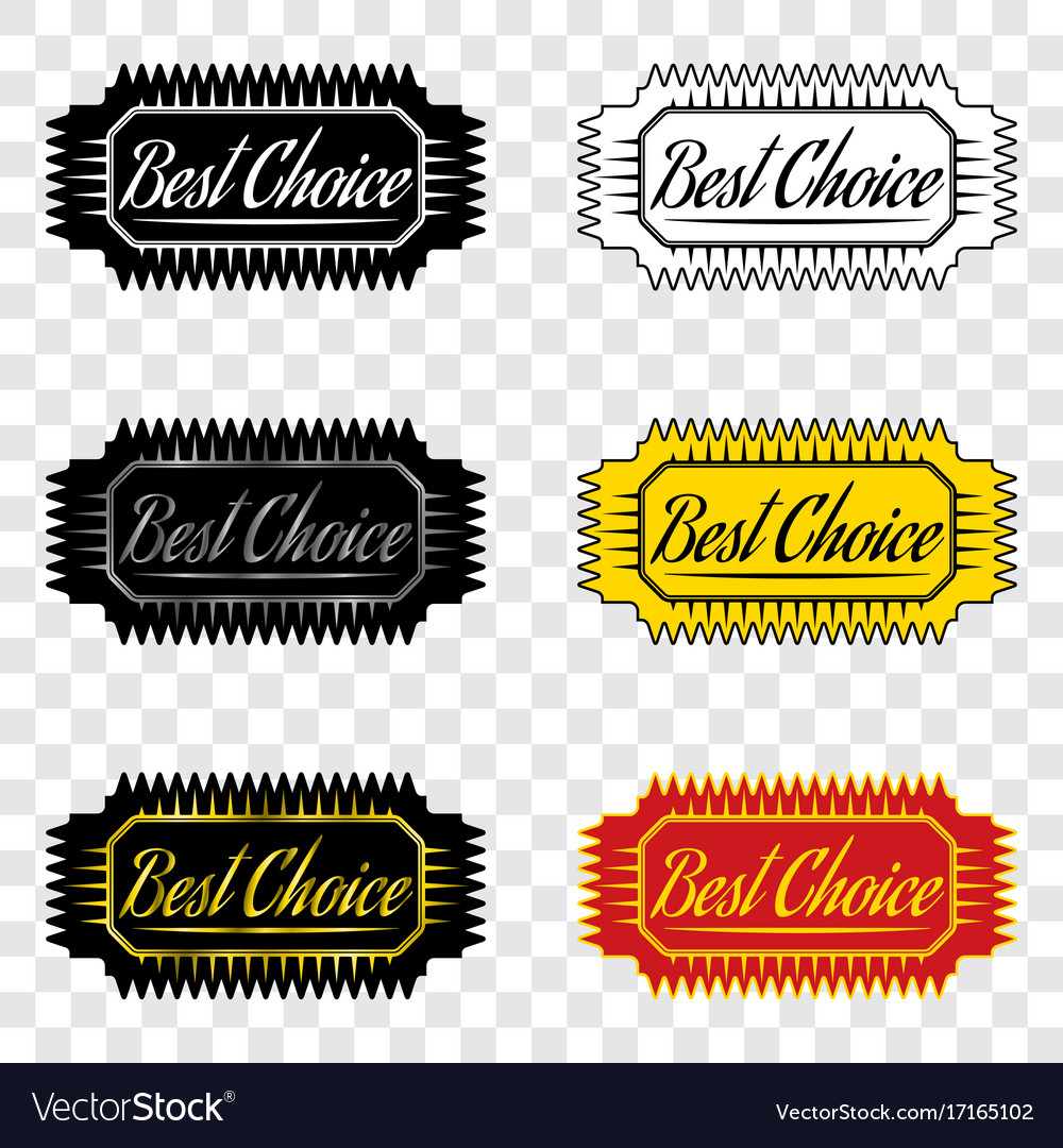 Best choice ribbon of best choice