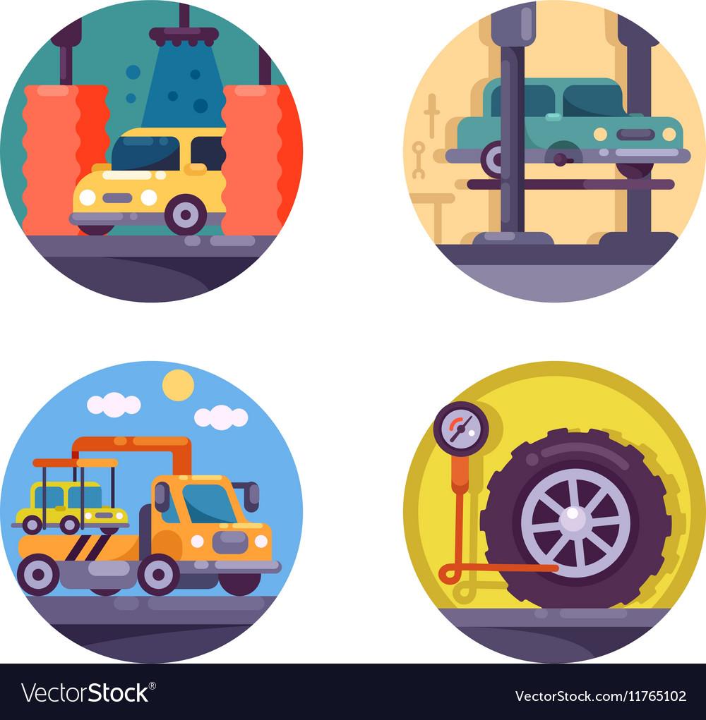 Car service garage vector image
