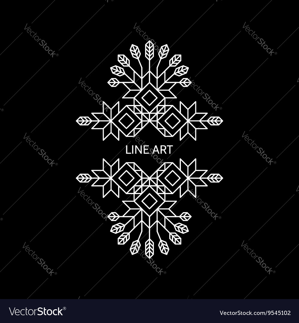 Decorative Design Element Retro Style Border vector image