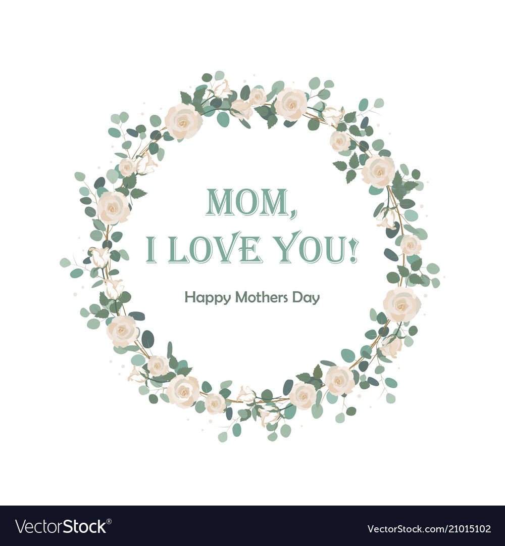 Happy mothers day beautiful card with floral