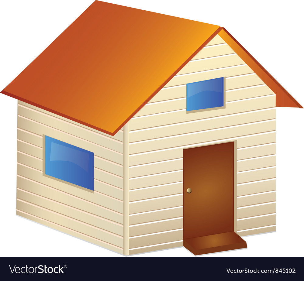 Home isolated vector
