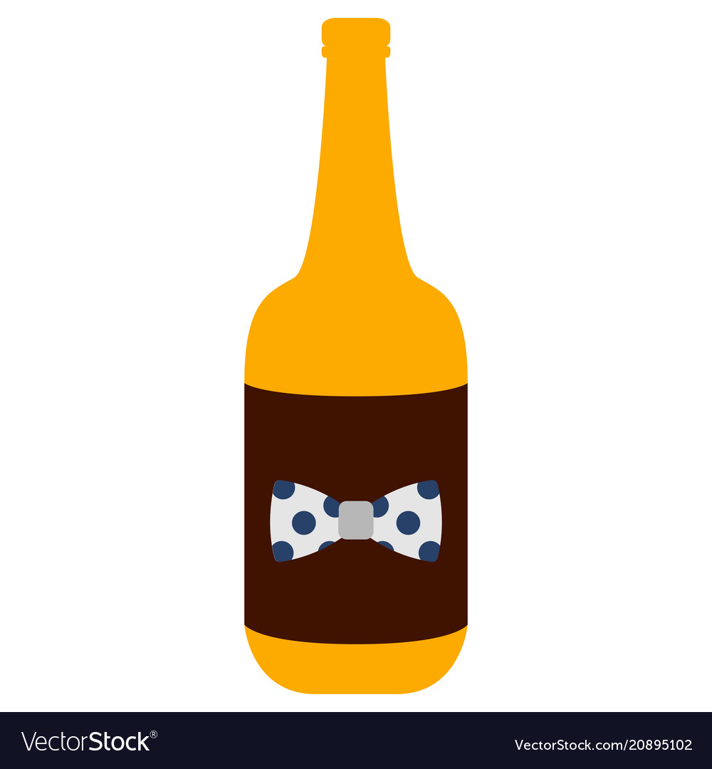 Isolated beer bottle icon