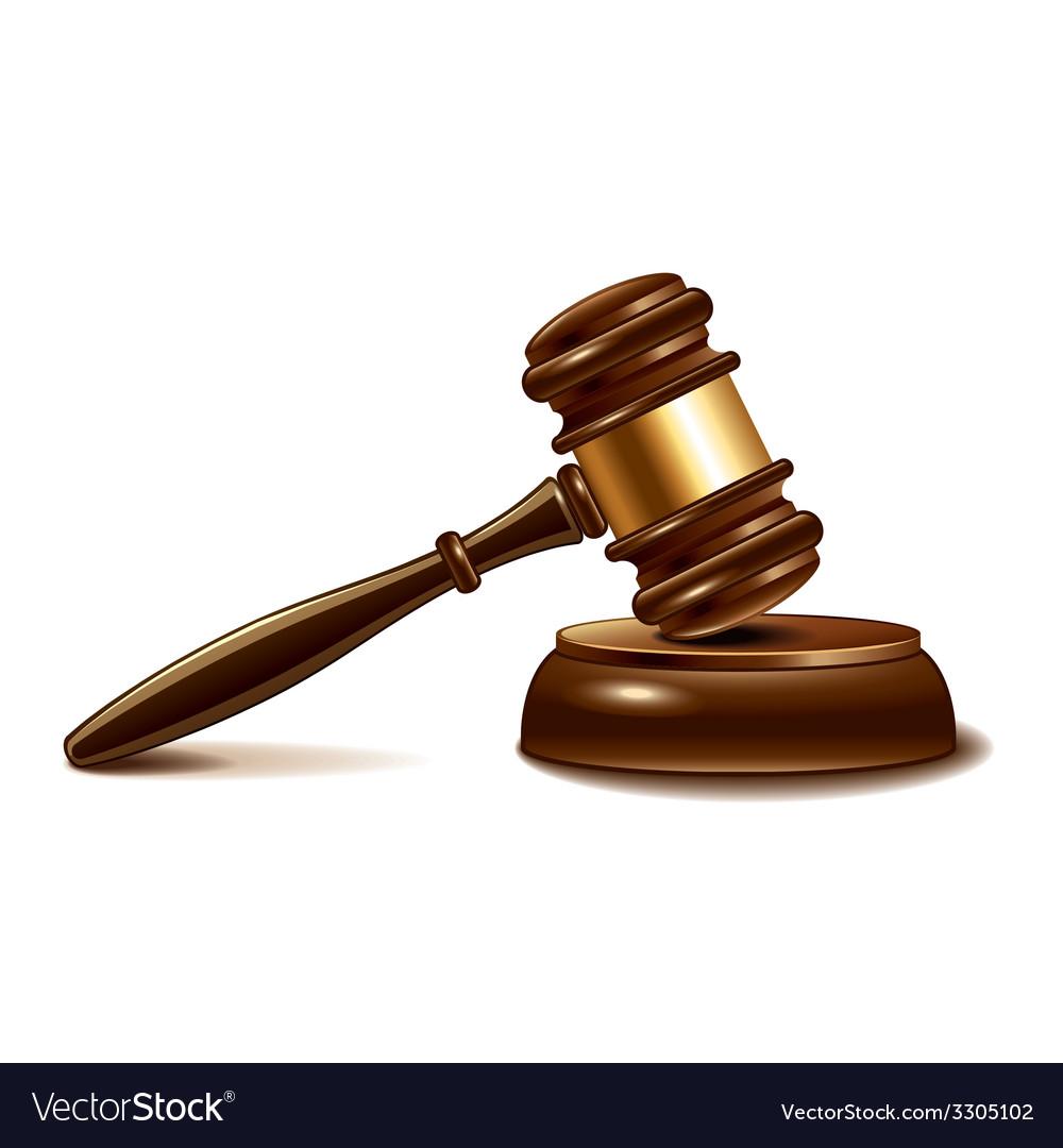 Judge gavel isolated