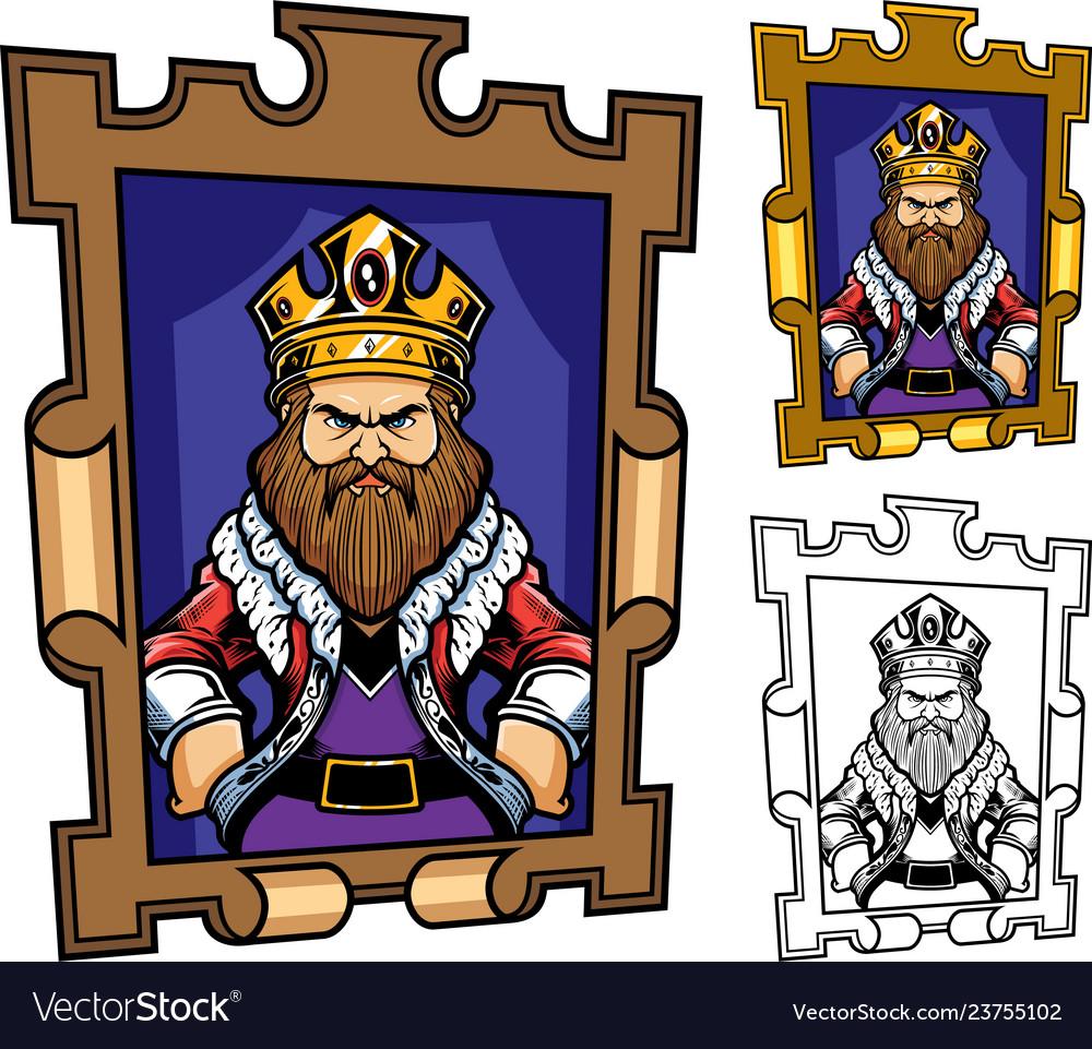 King cartoon portrait