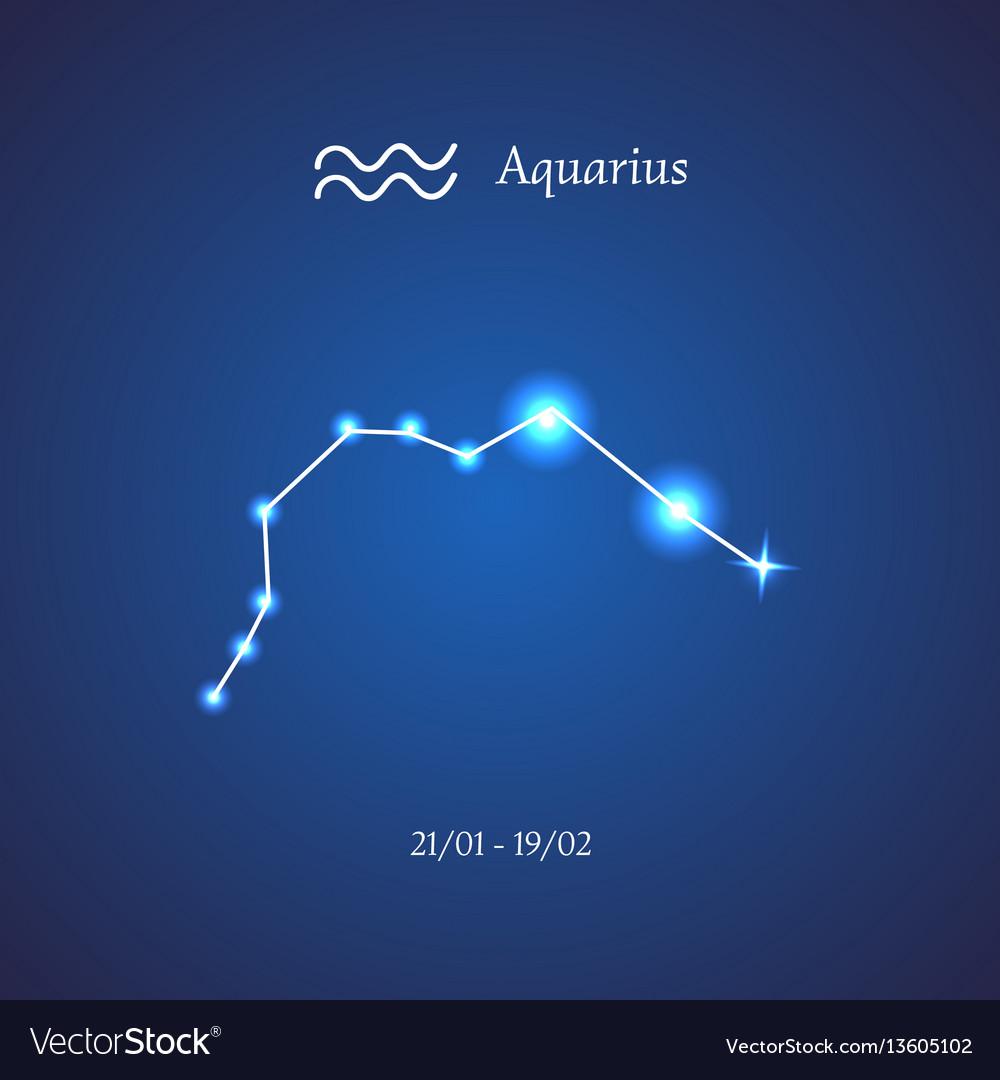 Zodiac Constellation Aquarius Water Bearer Vector Image