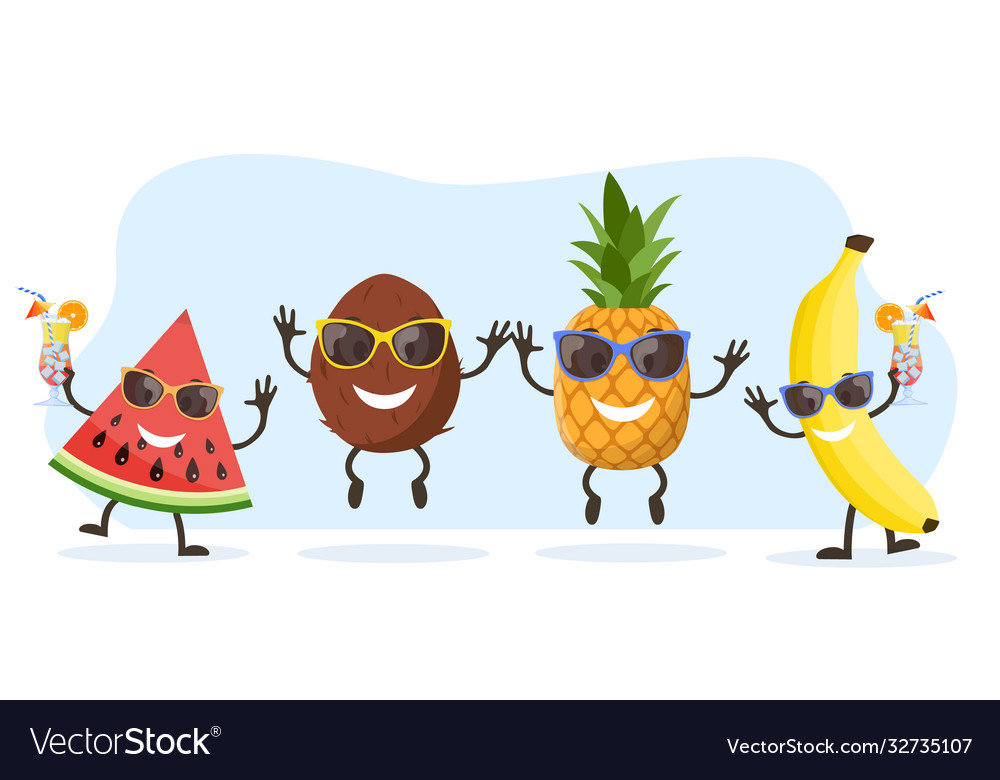 Cute and funny pineapple character