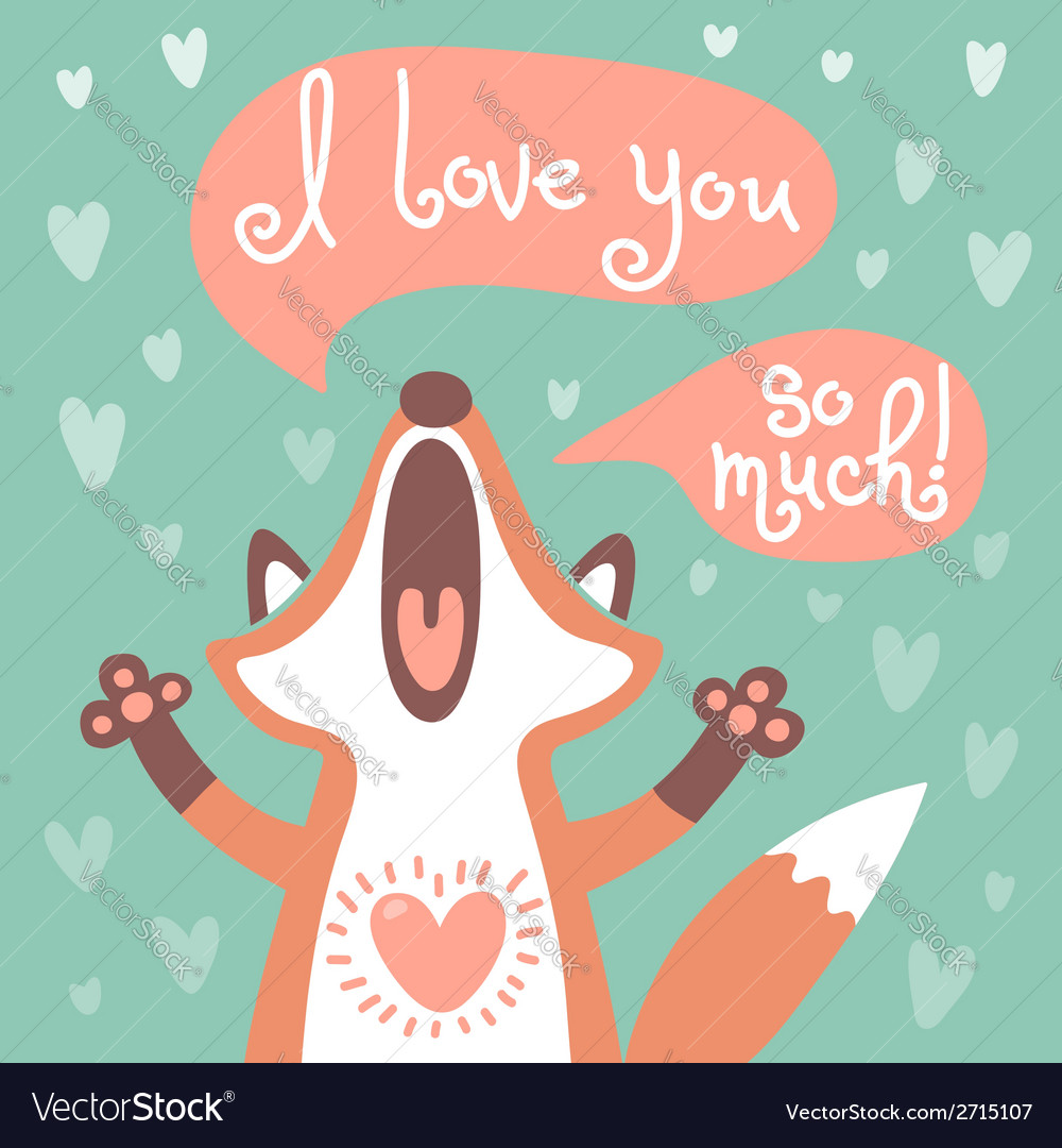 Cute fox confesses his love