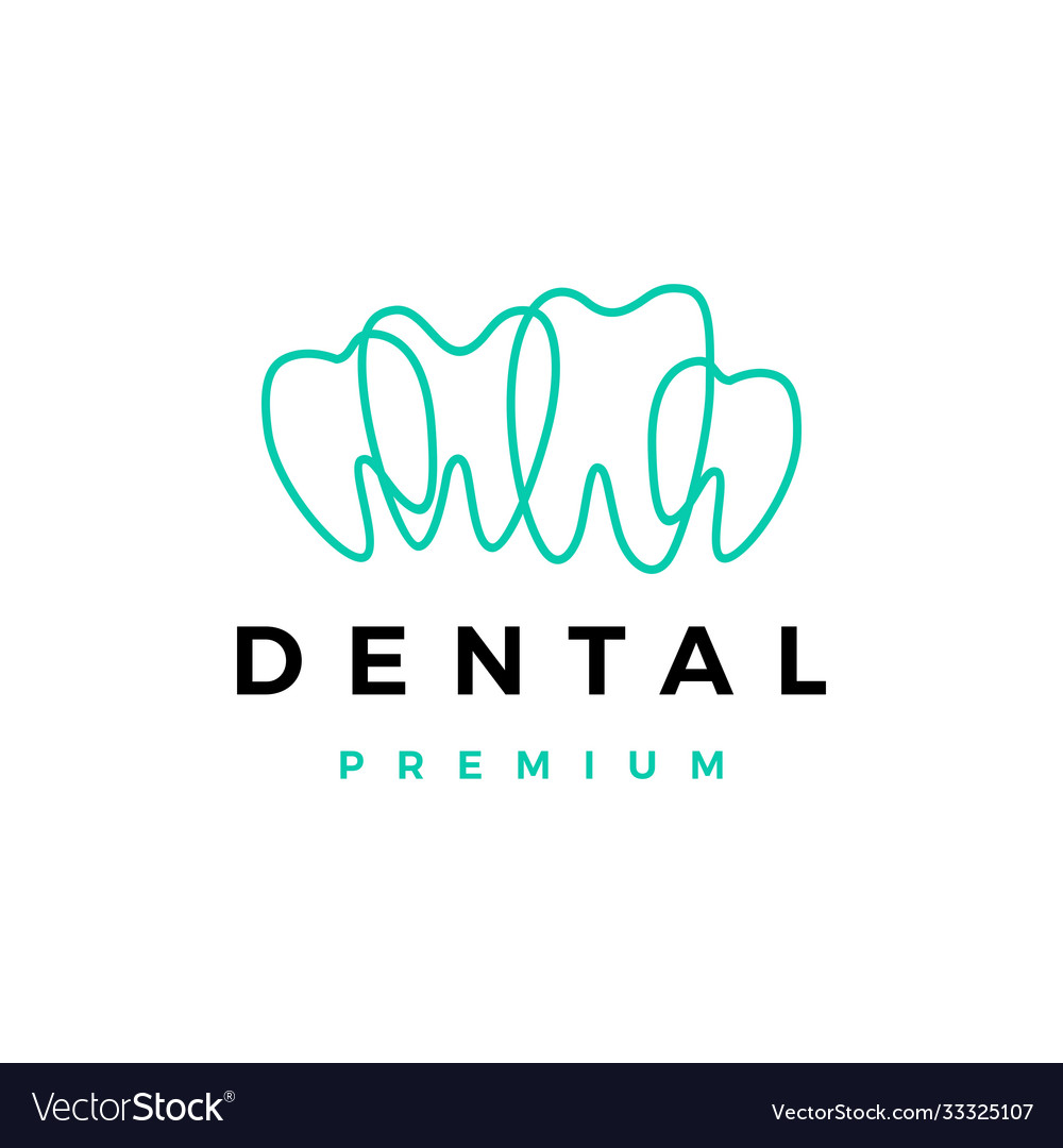 Dental tooth teeth outline logo icon