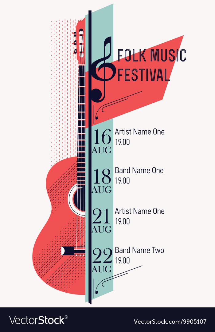 Folk Music Festival Banner Template