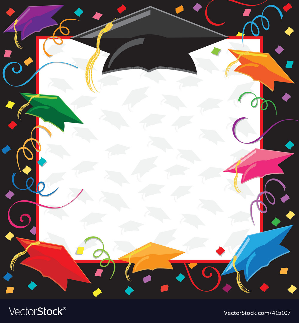Graduation party invitation vector image