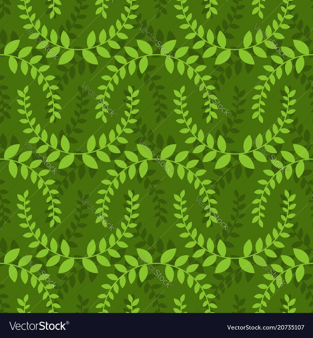 Leaves seamless pattern green leaf ornament