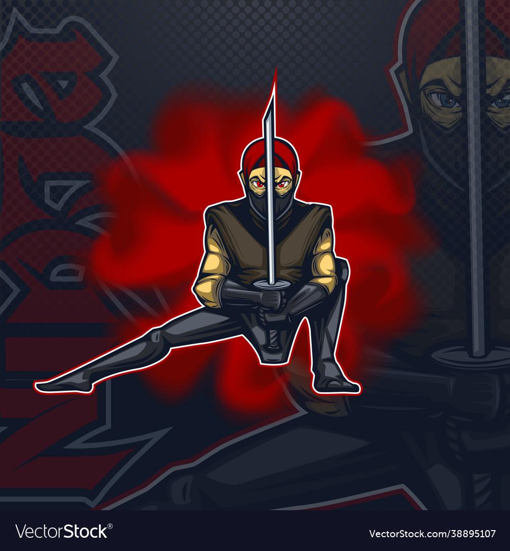 Logo talisman ninja in combat position esport team