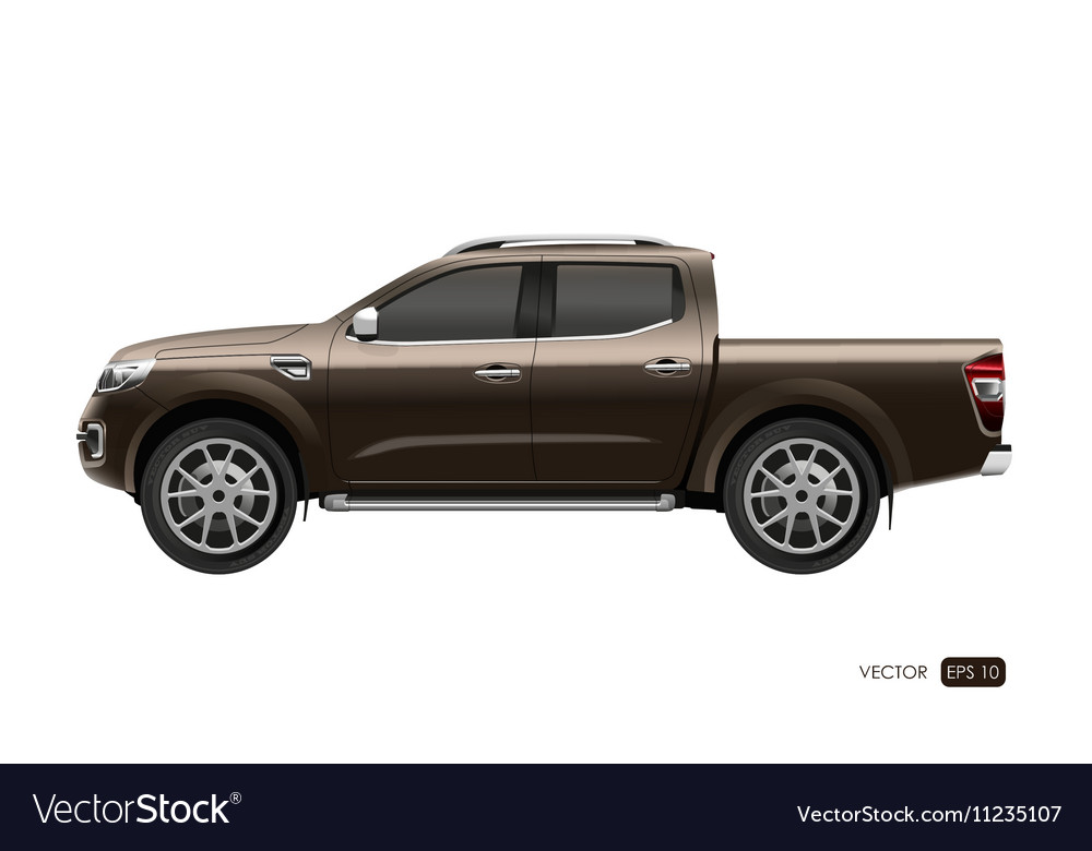 Off Road Car On White Background