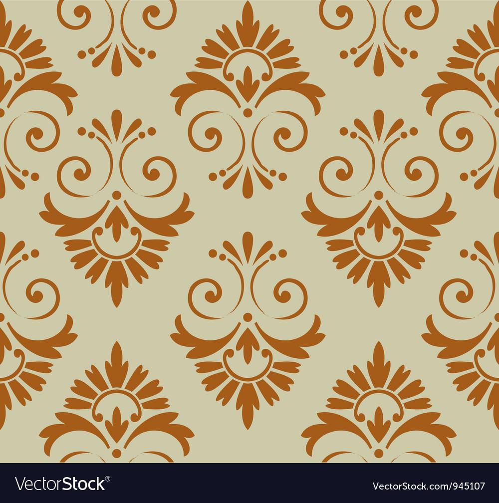 Retro Floral Wallpaper Royalty Free Vector Image